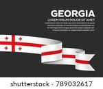 georgia flag background | Shutterstock .eps vector #789032617