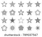 linear stars set. bethlehem and ... | Shutterstock . vector #789037567