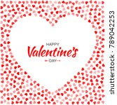 valentines day card design.... | Shutterstock .eps vector #789042253