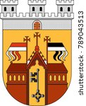 coat of arms of herford is a... | Shutterstock .eps vector #789043513