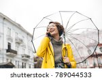 shot of young woman in yellow...   Shutterstock . vector #789044533