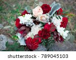 romantic arrangement of red and ... | Shutterstock . vector #789045103