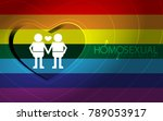 homosexual expression of the... | Shutterstock .eps vector #789053917