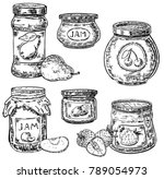 Ink Hand Drawn Style Jam Jar...