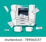 office multifunction machine.... | Shutterstock . vector #789063157