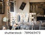 wedding venue is beautifully...   Shutterstock . vector #789065473