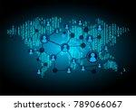 binary circuit board future...   Shutterstock .eps vector #789066067