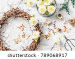 handmade home interior... | Shutterstock . vector #789068917
