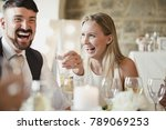 wedding guests are enjoying... | Shutterstock . vector #789069253