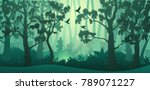 Vector Forest Background. Tree...
