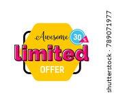 limited offer lettering on...   Shutterstock .eps vector #789071977