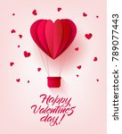 vector happy valentines day... | Shutterstock .eps vector #789077443