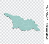georgia south ossetia map  ... | Shutterstock .eps vector #789077767