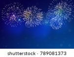 brightly colorful fireworks and ... | Shutterstock .eps vector #789081373