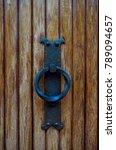 rusty door knocker on an old... | Shutterstock . vector #789094657