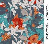 spring botanical seamless... | Shutterstock .eps vector #789094993