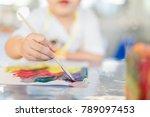 portrait of adorable little... | Shutterstock . vector #789097453