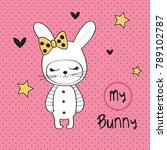 Cute Bunny Girl  Happy Easter...