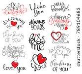 happy valentine's day... | Shutterstock .eps vector #789104683