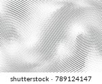 abstract halftone wave dotted... | Shutterstock .eps vector #789124147