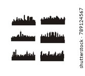 city skyline vector abstract