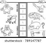 black and white cartoon...   Shutterstock .eps vector #789147787