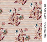 seamless floral pattern with... | Shutterstock .eps vector #789152713