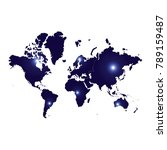 map continents high color light ... | Shutterstock .eps vector #789159487