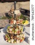 catering food buffet outdoor   Shutterstock . vector #789162577