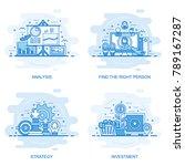 modern flat color line concept... | Shutterstock .eps vector #789167287