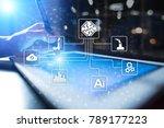 microchip  cpu  processor ... | Shutterstock . vector #789177223