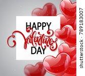 vector romantic holiday... | Shutterstock .eps vector #789183007