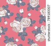 retro floral seamless pattern....   Shutterstock .eps vector #789183307