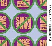 conceptual seamless pattern... | Shutterstock .eps vector #789199333