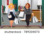 a vector illustration of women... | Shutterstock .eps vector #789204073