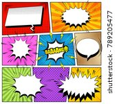 comic book colorful composition ... | Shutterstock .eps vector #789205477