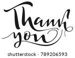thank you handwritten...   Shutterstock .eps vector #789206593