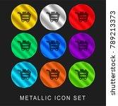 full shopping cart 9 color... | Shutterstock .eps vector #789213373