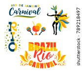 brazilian carnival. big set of... | Shutterstock .eps vector #789218497