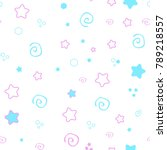 seamless pattern baby set on... | Shutterstock .eps vector #789218557