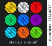 down arrow sketch 9 color... | Shutterstock .eps vector #789218797