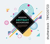 modern abstract circle... | Shutterstock .eps vector #789220723