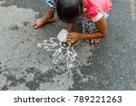 unidentified indian young girl... | Shutterstock . vector #789221263