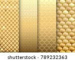 a set of gold textures... | Shutterstock .eps vector #789232363