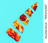 slice of pizza. fast food art... | Shutterstock . vector #789241087
