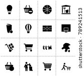 basket icons. vector collection ...