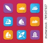 sailboat icons. vector...