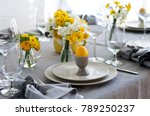 easter table setting | Shutterstock . vector #789250237