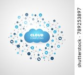 cloud computing design concept... | Shutterstock .eps vector #789253897