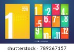 wall monthly calendar for the... | Shutterstock .eps vector #789267157